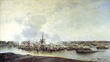 Сражение при Гангуте 27 июля 1714 г. (А. Боголюбов)