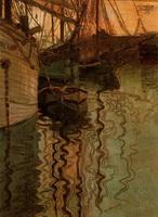 Триест, гавань (Э. Шиле, 1907 г.)
