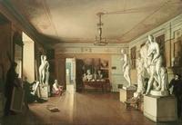 Мастерская А.Г. Венецианова (А.А. Алексеев, 1827 г.)
